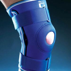 NEO G Knäskydd med öppen knäskål, stödskenor, ledad