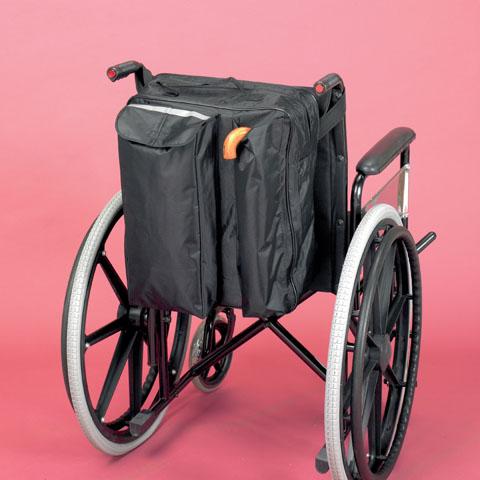 Rullstolsväska med käpp/kryckväska