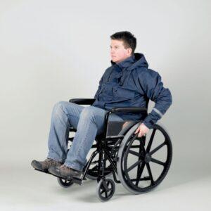 Jacka för rullstols-och kryck användare