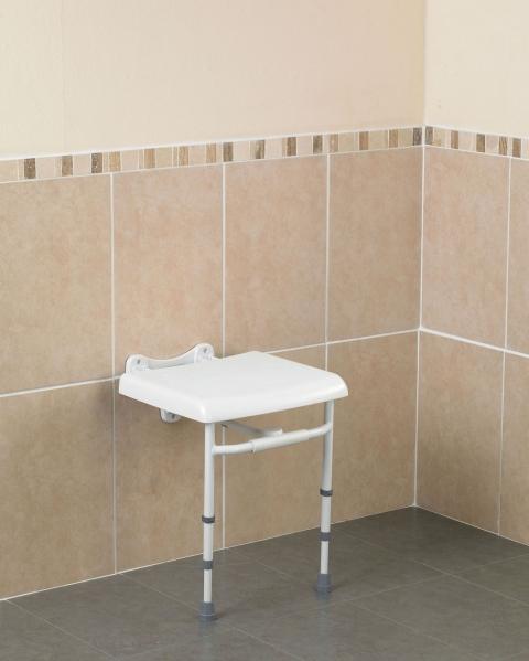 Savanah väggmonterad duschstol med ryggstöd