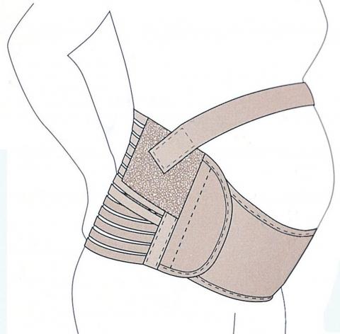 Graviditetsbälte med extra stöd