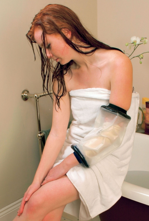 Duschskydd för arm och ben