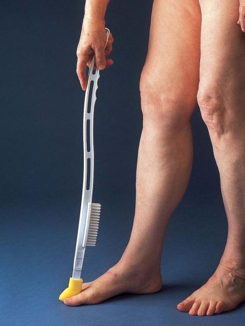 Tåtvättare med fotborste