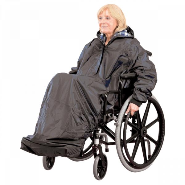 Regndress för rullstol med ärmar