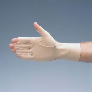 Ödemhandskar, låg kompression 3/4-handske med öppna fingrar