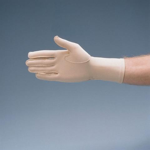 Ödemhandskar, med låg kompression, hela handskar