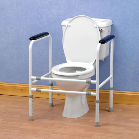 Toalettram med ställbar bredd och höjd, extra bred
