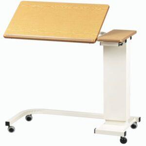 Sängbord vinkelbar skiva benplats