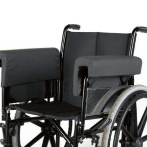 Mjuka armskydd för rullstol