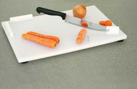Skärbräda med kniv och flera funktioner