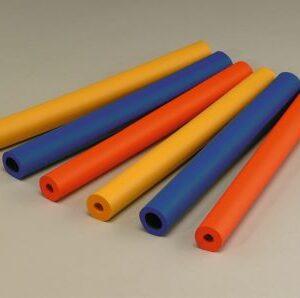 Cylindriska rör, flera färger