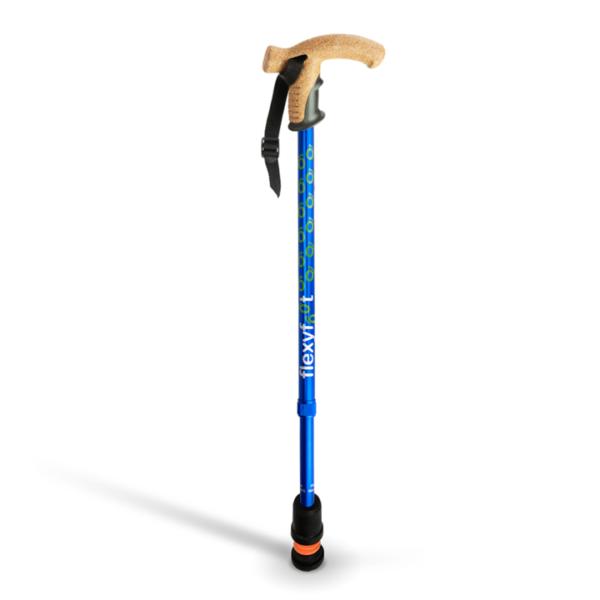 Flexyfoot teleskopkäpp med cork-grepp